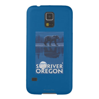 Bear in Moonlight - Sun River, Oregon Galaxy S5 Cases