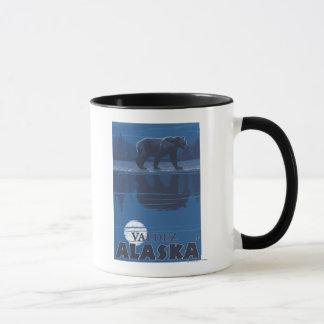 Bear in Moonlight - Valdez, Alaska Mug