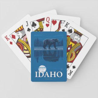 Bear in MoonlightIdahoVintage Travel Poster Poker Deck