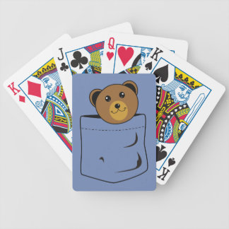 Bear in pocket bicycle playing cards