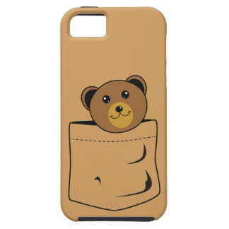 Bear in pocket iPhone 5 cover