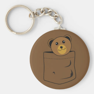 Bear in pocket keychain