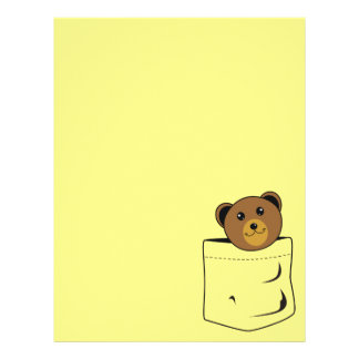 Bear in pocket letterhead