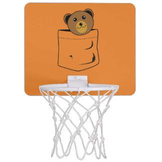 Bear in pocket mini basketball hoop