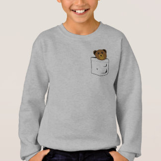Bear in pocket sweatshirt