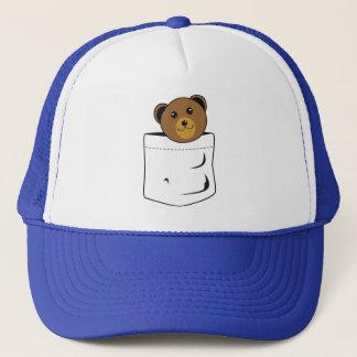 Bear in pocket trucker hat