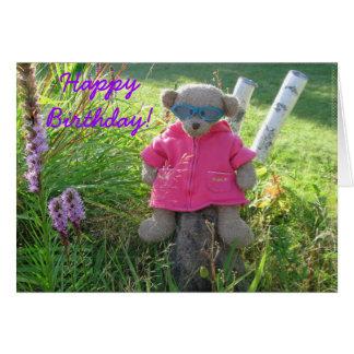 Bear-in-Shades Happy Birthday Greeting Cards