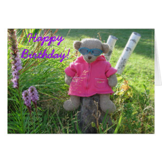 Bear-in-Shades Happy Birthday Greeting Cards