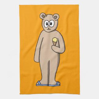 Bear in Summer. Kitchen Towel