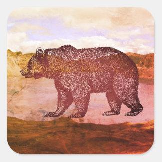 Bear In The Landscape Stickers