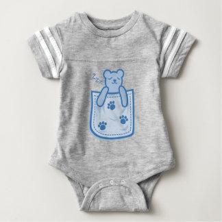 Bear_in_the_Pocket Baby Bodysuit