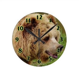 Bear in the wild wallclock