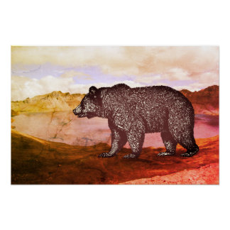 Bear In The Wilderness Poster