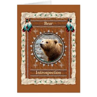 Bear -Introspection- Custom Greeting Card
