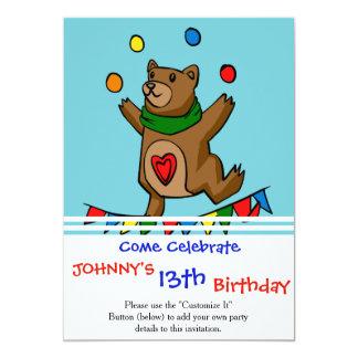 Bear juggling card