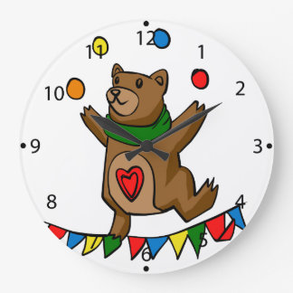 Bear juggling large clock