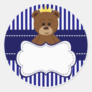 Bear King - Round Sticker