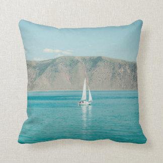 Bear Lake Utah Sail Boat Throw Pillow