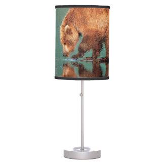 Bear lampshade table lamp