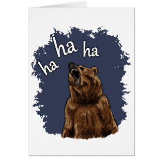 Bear Laughing Card