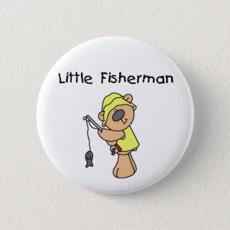 Bear Little Fisherman 2 Inch Round Button