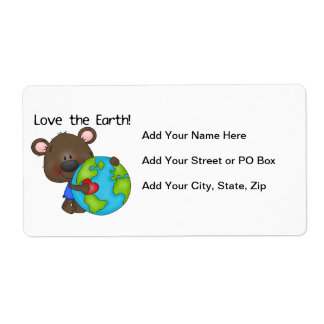 Bear Love the Earth Shipping Label