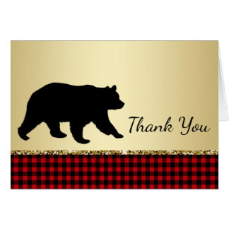 Bear Lumberjack Bear Thank You Cards