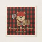 Bear Lumberjack Wilderness Themed Baby Shower Napkin