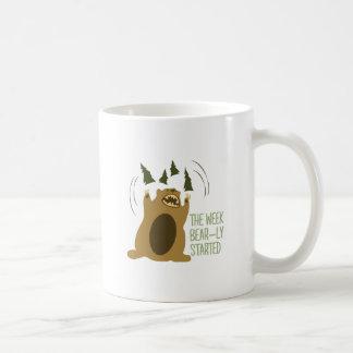 Bear-ly Started Coffee Mugs