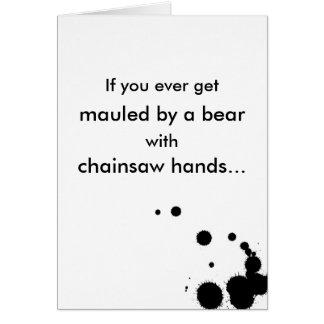 Bear Mauling Romance Greeting Card
