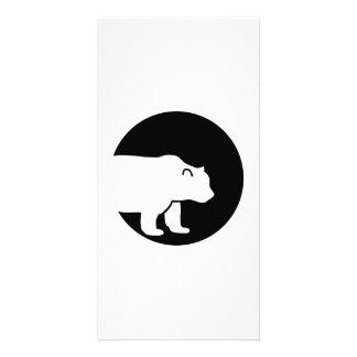 Bear moon photo card template