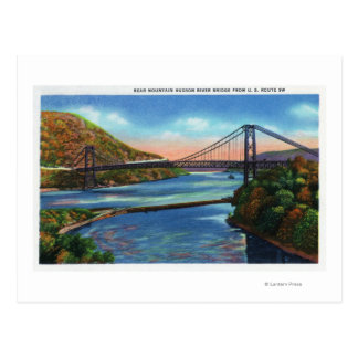 Bear Mountain Hudson River Bridge Postcard