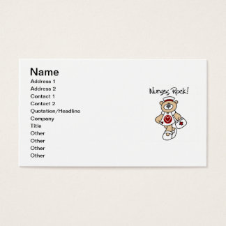 Bear Nurses Rock T-shirts and Gifts Business Card