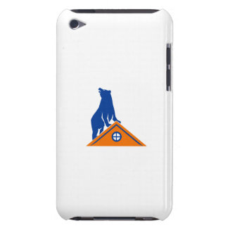 Bear On Roof Isolated Retro iPod Touch Cover