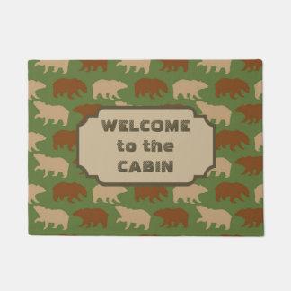Bear Pattern Cabin Doormat