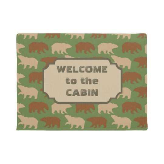 Bear Pattern Cabin Doormat