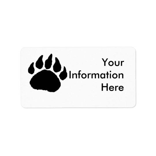 Bear Paw Address Lables