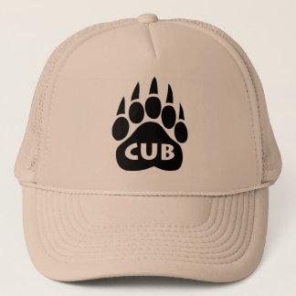 "Bear Paw Gay Pride Hat ""Cub"" Text"