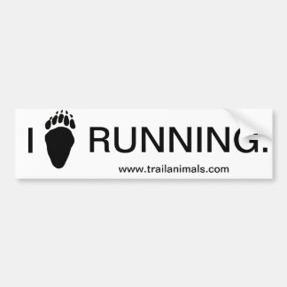 Bear Paw.gif, I, RUNNING., www.trailanimals.com Bumper Sticker