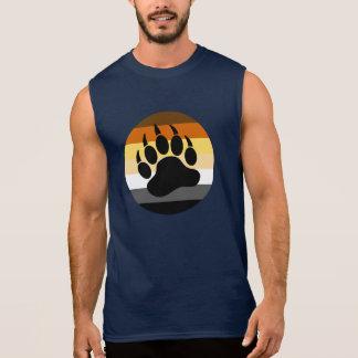 Bear Paw in Bear Pride Circle (large front) Sleeveless Shirt
