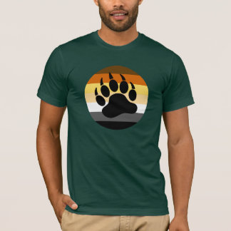 Bear Paw in Bear Pride Circle (large front) T-Shirt