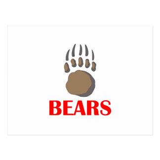 BEAR PAW MASCOT POST CARDS