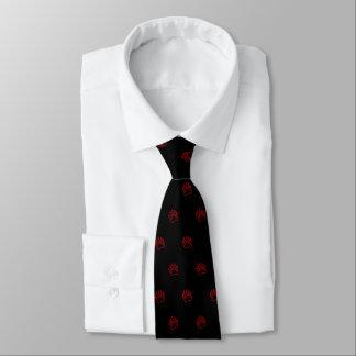 Bear Paw Red  (black) Tie