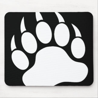 Bear Paw (reverse) Mouse Pad