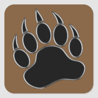 Bear Paw Square Sticker