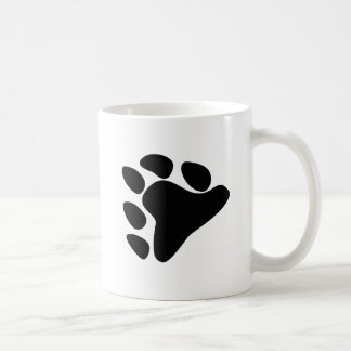 BEAR PAW SYMBOL BLACK COFFEE MUG
