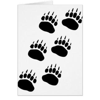Bear Paw Track Card