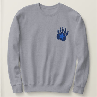 Bear Paw Wild Star Embroidery Embroidered Sweatshirt