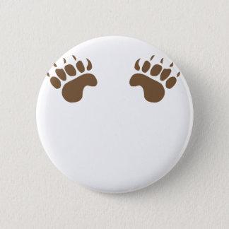 Bear Paws 2 Inch Round Button