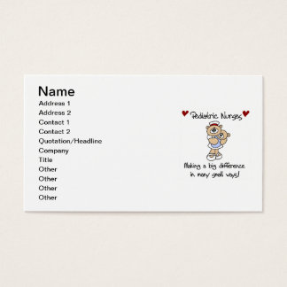 Bear Pediatric Nurses T-shirts and Gifts Business Card
